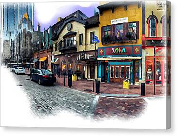 Pittsburgh's Market Square Canvas Print by Mattucci Photography