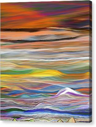 Canvas Print featuring the digital art Pittura Digital Ghibli1128 by Sheila Mcdonald