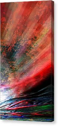 Canvas Print featuring the digital art Pittura Digital Ghibill25e by Sheila Mcdonald