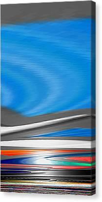Canvas Print featuring the digital art Pittura Digital by Sheila Mcdonald