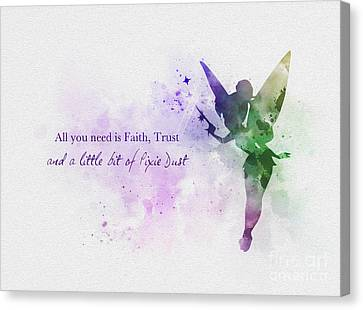 Fairy Canvas Print - Pixie Dust by Rebecca Jenkins