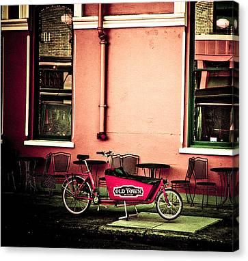 Pizza Delivery Bike Canvas Print