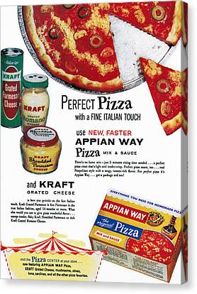 Grate Canvas Print - Pizza Mix Ad, 1960 by Granger
