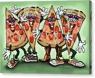 Pizza Party Canvas Print