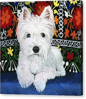 PJ Canvas Print by Debbie Brown
