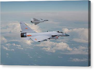 Canvas Print featuring the photograph Plaaf J10 - Vigorous Dragon by Pat Speirs