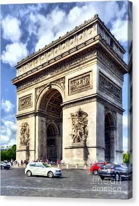 Arc De Triomphe # 2 Canvas Print by Mel Steinhauer