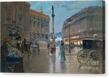 Place De L Opera In Paris Canvas Print