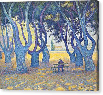 Place Des Lices St Tropez Canvas Print by Paul Signac