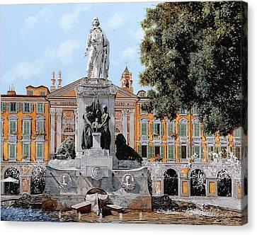 Place Garibaldi In Nice  Canvas Print by Guido Borelli
