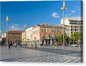 Place Massena In Nice Canvas Print by Elena Elisseeva
