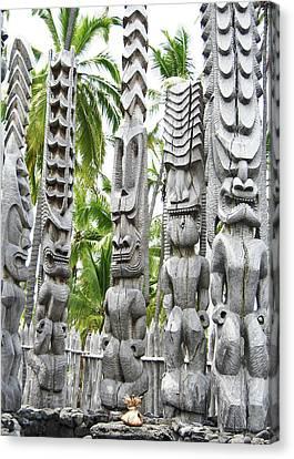 Place Of Refuge - Pu'uhonua O Honaunau National Park Hawaii Canvas Print