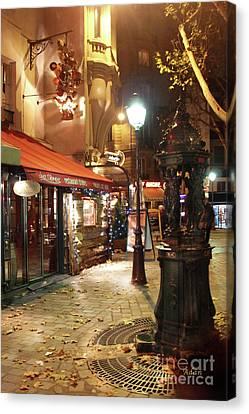 Place St Michel To Rue Saint-andre Des Arts Canvas Print