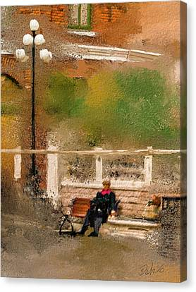 Canvas Print featuring the digital art Place To Rest. by Dale Stillman