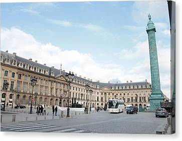 Canvas Print featuring the photograph Place Vendome by Christopher Kirby