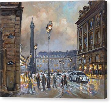 Canvas Print - Place Vendome, Paris by Irek Szelag