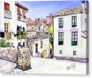 Placeta Nevot Albaicin Granada Canvas Print