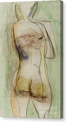 Canvas Print featuring the drawing Placid by Paul McKey