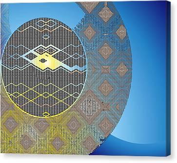 Canvas Print featuring the digital art Plaid by Lynda Lehmann