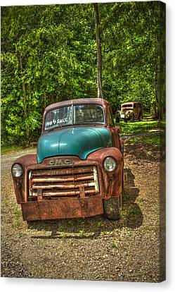 Plain Jane 1952 Gmc Pickup Truck Art Canvas Print