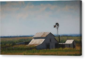 Plains Painted Barn Canvas Print