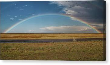 Plainview Rainbow Canvas Print