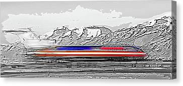 Plane At Airport 1 Canvas Print by Steve Ohlsen