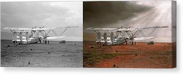 Plane - Hanno Ready To Take Off 1931 - Side By Side Canvas Print by Mike Savad