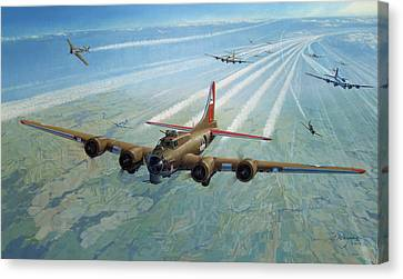Canvas Print featuring the photograph Plane by Test