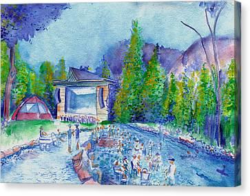 Planet Bluegrass Lyons Colorado Canvas Print by David Sockrider
