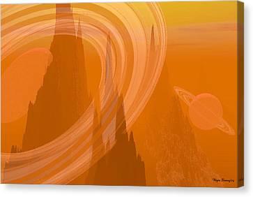 Planet Citrus Canvas Print by Wayne Bonney