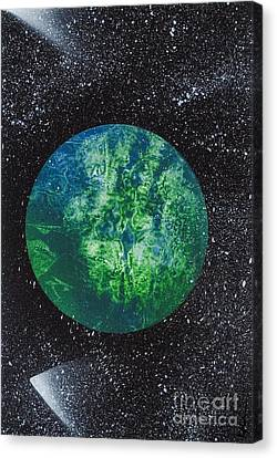 Planet Comet  Canvas Print by Kylah Fountain