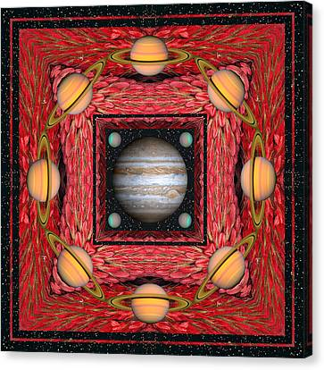 Cosmic Space Canvas Print - Planet Dance by Bell And Todd