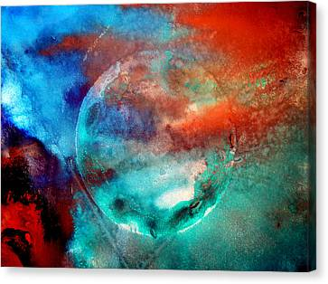 Planet In Galaxy Andromeda Canvas Print by Sumit Mehndiratta