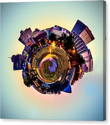 Planet Memphis - Contemporary Digital Art Canvas Print by Barry Jones
