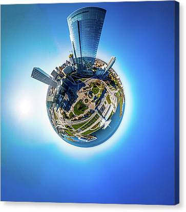 Canvas Print featuring the photograph Planet Milwaukee by Randy Scherkenbach