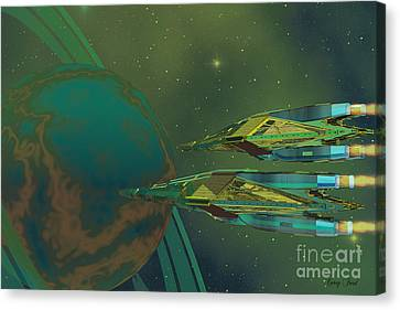 Planet Of Origin Canvas Print by Corey Ford