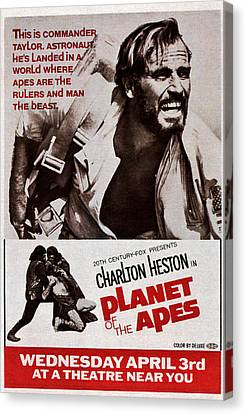 Planet Of The Apes, Top Charlton Canvas Print