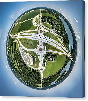 Canvas Print featuring the photograph Planet Of The Roundabouts by Randy Scherkenbach