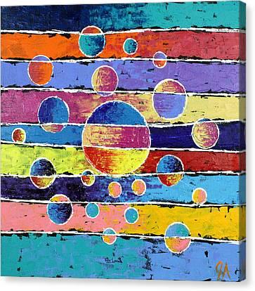 Planet System Canvas Print