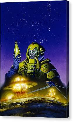 Planet Wars Canvas Print by Richard Hescox