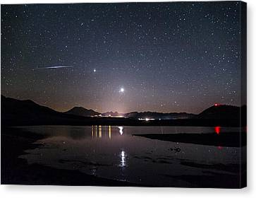 Planets Over Mammoth Canvas Print