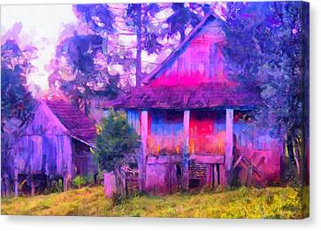 Plank Homes Canvas Print by Caito Junqueira