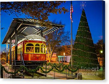 Plano Trolley Car Canvas Print by Inge Johnsson