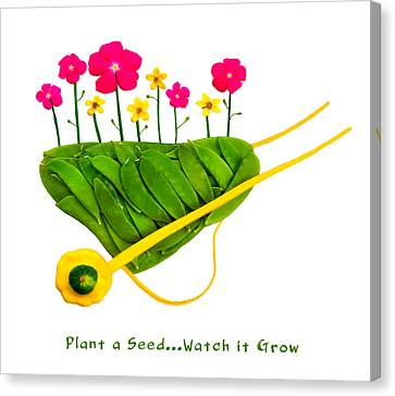 Plant  A Seed...watch It Grow - Captioned Canvas Print by Frederica Georgia