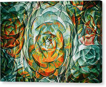 Canvas Print featuring the photograph Plant Abstract by Wayne Sherriff