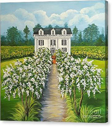 Plantation Home Canvas Print by Sandra Lett