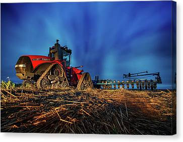 Planting Red Canvas Print by Thomas Zimmerman