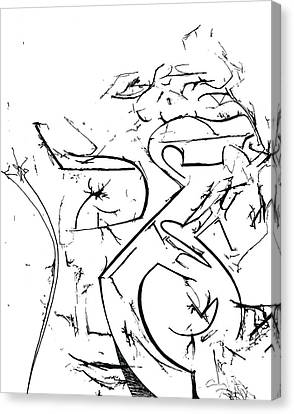 Plasmogamy027 Canvas Print by TripsInInk