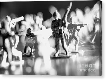 Canvas Print featuring the photograph Plastic Army Men 2 by Micah May